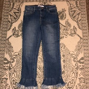 Cello Jeans with Fray Flare at Bottom